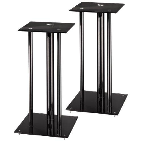 Hama-Lautsprecherstnder-2er-Set-Hhe-64-cm-je-30-kg-belastbar-mit-Spikes-und-Kabelkanal-schwarz