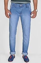 Routeen Men's Light Blue Slim Fit Denim Jeans (JTMDRLD6000LB_34)