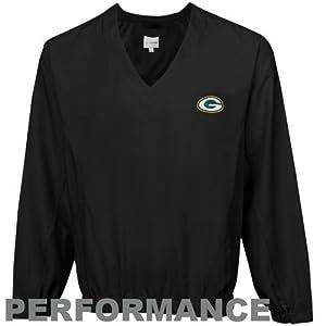 NFL Cutter & Buck Green Bay Packers Black Astute Performance Pullover Windshirt by Cutter & Buck