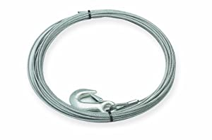 "Superwinch 1577A Wire Rope assembly with Hook -1/4"" x 50' - replacement wire rope for S5000"