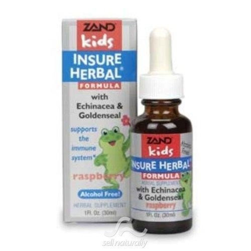 Zand Kids Insure Herbal Formula with Echinacea & Goldenseal 1 fl oz (30 ml)