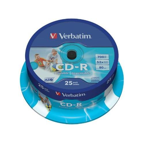 Verbatim-43439-AZO-52x-Wide-Printable-CD-R-25pk