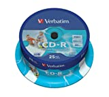 Verbatim 43439 AZO 52x Wide Printable CD-R - 25pk
