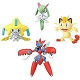 Pokémon 4-Figure Gift Pack - Mega Scizor, Jirachu, Meowth,  Kirlia