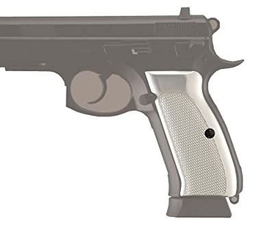 Hogue CZ-75/CZ-85 Grips Checkered Aluminum Brushed Gloss Clear