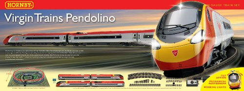 Hornby Virgin Trains R1134 Virgin Trains Pendolino 00 Gauge  Train Set