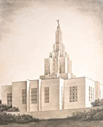 LDS Idaho Falls Idaho Temple Drawing 11x14\