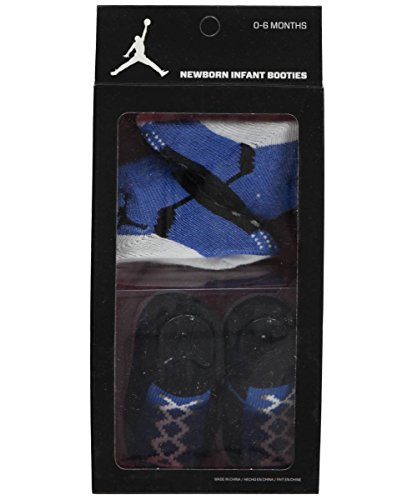 Jordan Baby Boys' 2-Pack Sock Booties - blue, 0 - 6 months