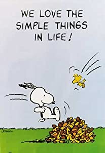"Peanuts: We Love The Simple Things In Life! - Poster (Size: 24"" x 36"")"