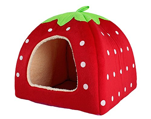 schone-strawberry-weicher-kaschmir-warm-pet-nest-hund-katze-bett-klappbar-red