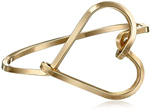 """By Boe Yellow Gold-Plated Silver """"Sweetheart Ring"""", Size 7"""