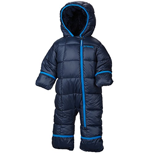 Columbia Baby-Boys Infant Frosty Freeze Bunting, College Navy/Hyper Blue, 12/18 Months front-983900