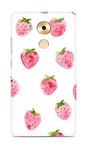 Amez designer printed 3d premium high quality back case cover for Huawei Mate 8 (Strawberry Pattern)