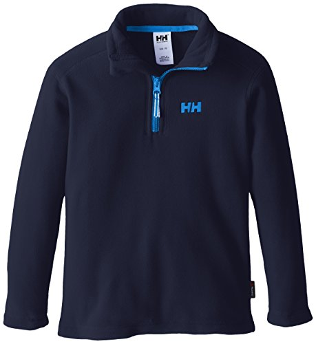 Helly Hansen Girl's Junior Day Breaker 1/2 Zip Shirt, Navy, 10