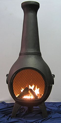 The-Blue-Rooster-Prairie-Chiminea-in-Charcoal-with-Gas