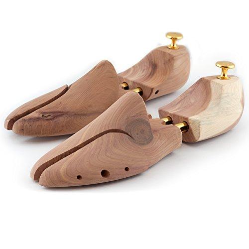 Lumaland allarga scarpe di Qualità con doppia molla in legno di cedro Tendiscarpe Forme allargascarpe Forma per calzature Unisex misura 42/43