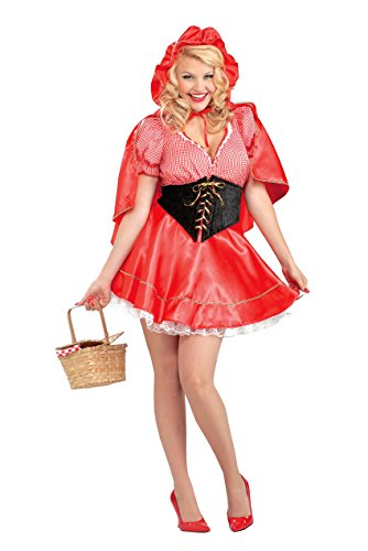 Forum Novelties Women's Plus-Size Red Riding Hood Plus Size Costume