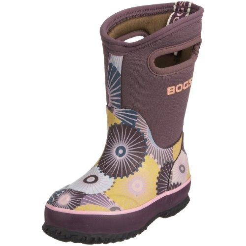 Bogs Junior Classic High Umbrellas Purple Wellingtons Boot 52149 7 Child UK
