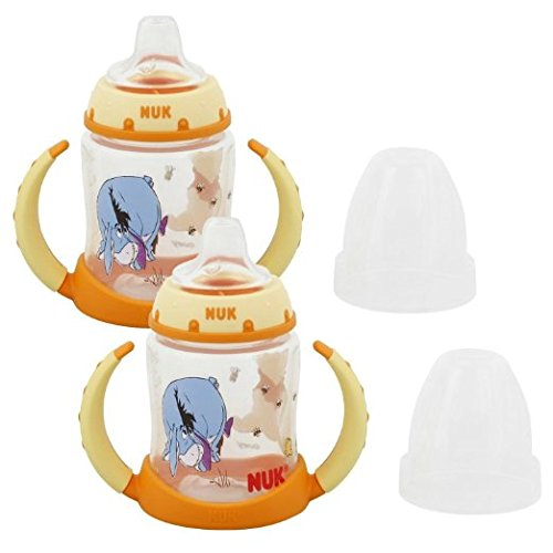 NUK Disney Winnie the Pooh 5 Ounces Learner Cup Silicone Spout, 6+ Months, 2 Count