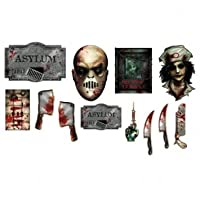 12 piece Bloody Asylum Paper Cutouts Valuepack