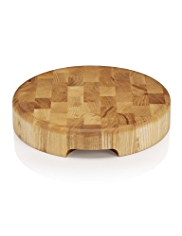 Oak Round Butchers Block Chopping Board
