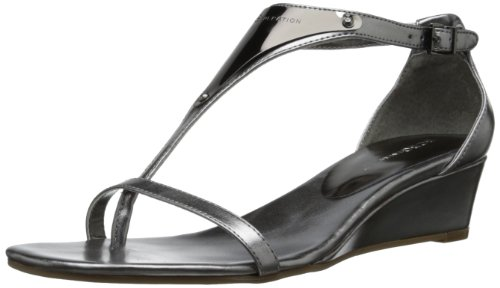 Bcbgeneration Women'S Jamie Wedge Sandal,Anthracite,7.5 M Us front-1048660