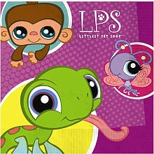 Designware Littlest Pet Shop Beverage Napkins - 16 ct - 1
