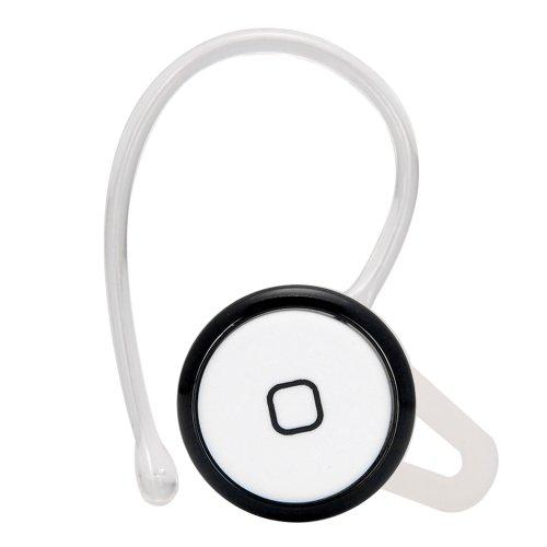 Choose Color Smallest Mini Wireless Bluetooth Hands Free Headset Headphone Earphone For Iphone Samsung Nokia Htc Blackberry (Black White)
