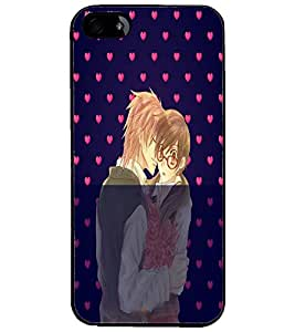 PrintDhaba Couple D-4989 Back Case Cover for APPLE IPHONE 5S (Multi-Coloured)