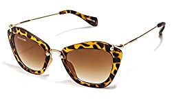 Danny Daze UV Protected Cat Eye Women Sunglasses (D-2510-C3|54MM|Brown)