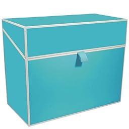 Semikolon Letter/A4 Size File Folder Box, Turquoise (32019)