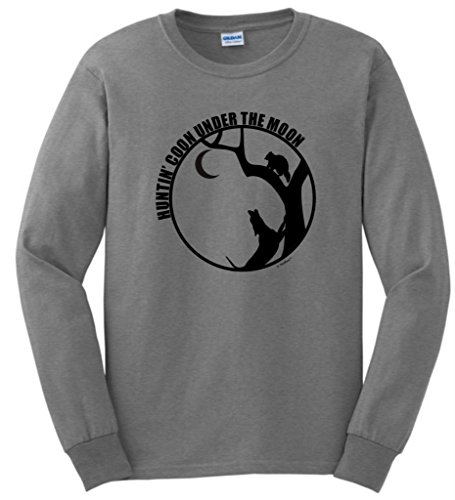 Huntin Coon Under the Moon Long Sleeve T-Shirt Large Sport Grey