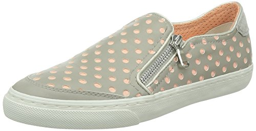 Geox D New Club A, Slip on Donna (39, Grigio (grigio))