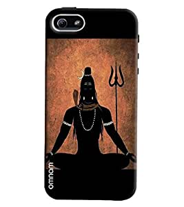 Omnam Lord Shiva Meditating Effect Printed Designer Back Cover Case For Apple iPhone 5/S