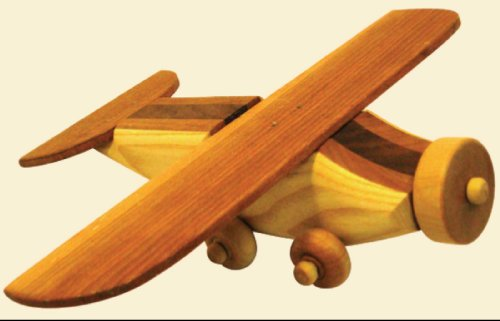 Firewood Toys - 木製 手作り 飛行機 - Airplane (All Wood, All Natural, Natural Adhesives, Natural Oils)