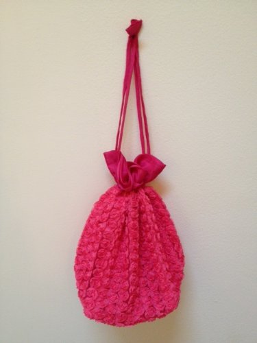 Lantern Moon Rosette Bag for Small Knitting Projects - Coral by Lantern Moon