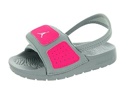Nike Jordan Toddlers Jordan Hydro 3 Gt Mtlc Platinum/White/Hyper Pink Sandal 9 Infants US