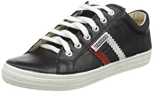 Kawasaki Slam Leather - Zapatillas de deporte, unisex, color negro, talla 43