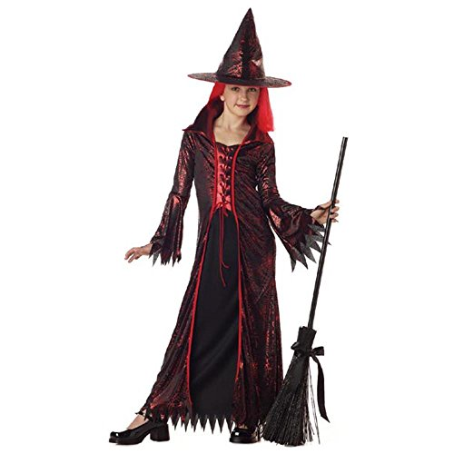 Child's Devil Witch Halloween Costume (Size: Small 6-8)