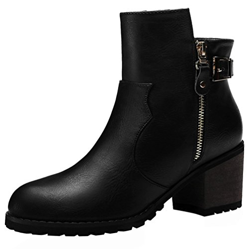 fq-real-women-fashion-pu-belt-and-buckle-decorated-zipper-chunky-mid-heel-ankle-short-boot-shoes4-uk