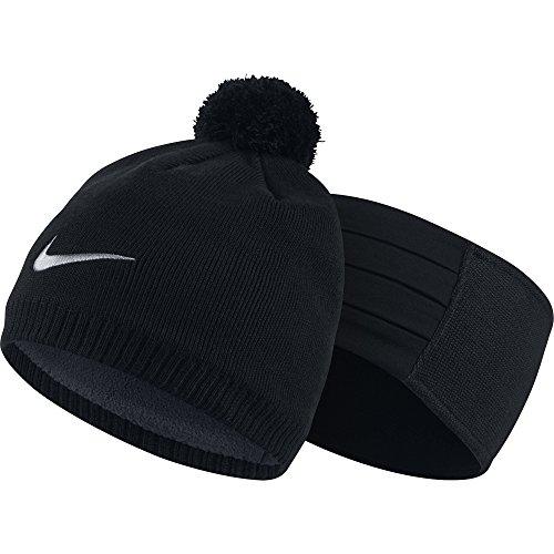 nike s knit headband beanie set black wolf grey