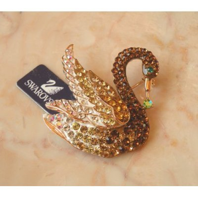Austrian Swarovski Crystal Lady Pin Brooch -Beautiful and The Highest Quality Austrian Crystal with Elegant Swan Design 4 cm W x 4.2 cm H Comes With Free Swarovski Jewelry Velvet Bag,Attractive and Gorgeous . Super Saving w/100% Satisfaction Guaranteed ! A Great Gift For Your Friends or Loved Ones.