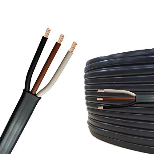 5m auprotec flachkabel 3 adriges elektrokabel. Black Bedroom Furniture Sets. Home Design Ideas