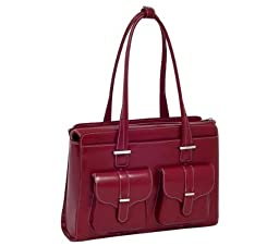 McKlein Alexis Checkpoint Friendly 15.4 Womens Laptop Bag Red