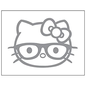 Nerd Hello Kitty Coloring Pages http://www.amazon.com/Hello-Sticker-Decal-Metallic-Silver/dp/B006ASC27A