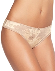 Burnout Floral Brazilian Knickers with Modal