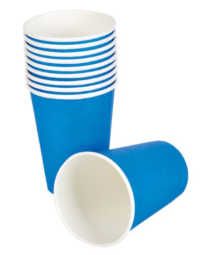 Lot 25 New Blue Birthday Party Paper Beer Beverage Drinking 9oz Cup - 1