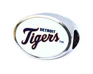 Detroit Tigers Bead Fits Pandora Style Bracelets Including Pandora, Chamilia, Biagi,... by Final Touch Gifts
