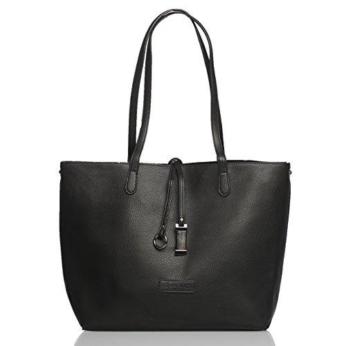 tragwert. Lara - Borse donna borse a tracolla borsette donna - borsa donna borsa a tracolla borsetta donna sacchetto borsa shopper bag shopping bag donna in pelle vegan nera