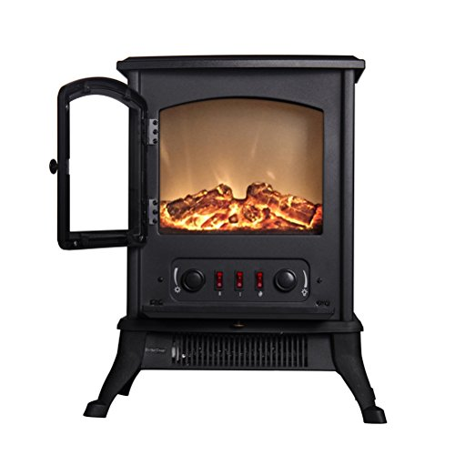 Ainfox Free Standing 1000w Portable Electric Fireplace Firebox Stove with Heater (Wood Stove Andirons compare prices)